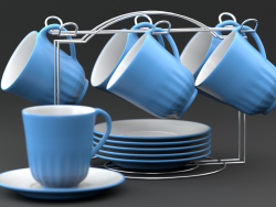 Tea set su un supporto