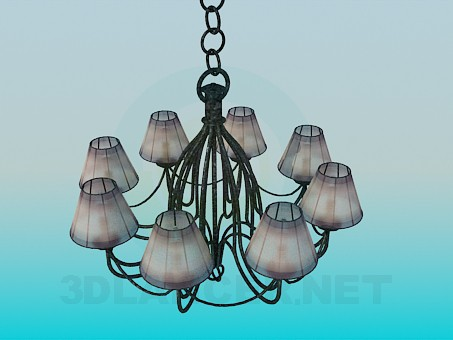 3d model Chandelier in 8 shades - preview
