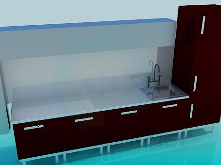 descarga gratuita de 3D modelado modelo Cocina de alta tecnología
