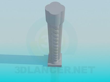 3d modeling Column for rails model free download
