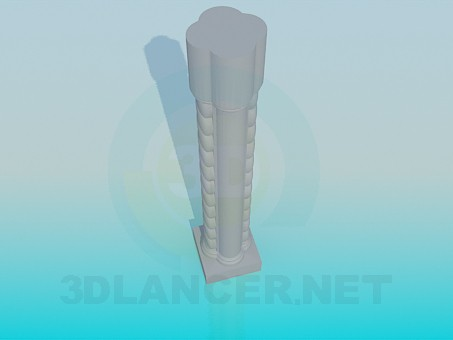 3d model Column for rails - preview