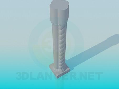 modelo 3D Columna para rieles - escuchar