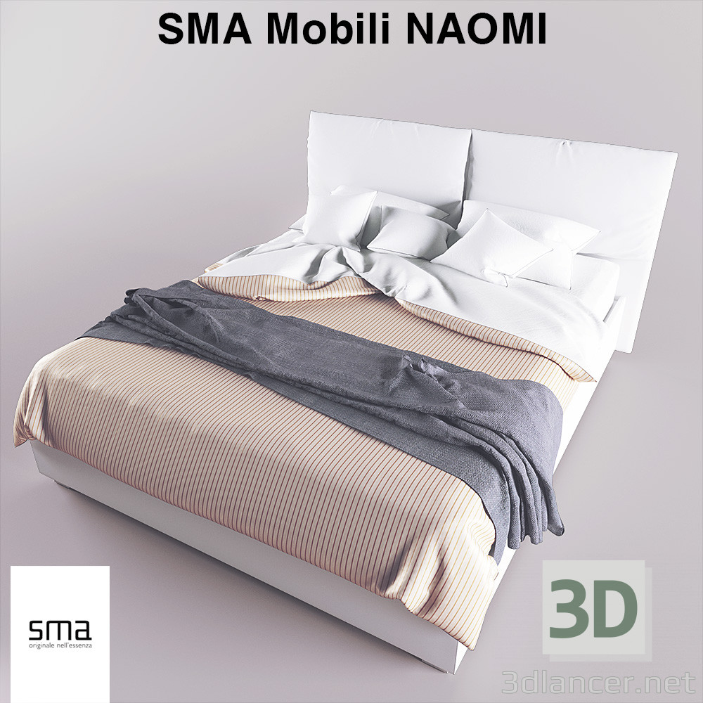 Modello 3d Letto Sma Mobili Naomi 17705 3dlancer Net