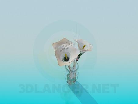 3d модель Лилии в вазе – превью