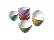kitchen bowls of different colors