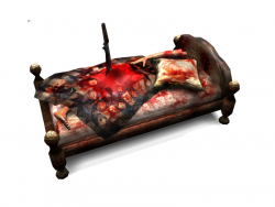 Bed for the Horror LowPoly game. Decoration