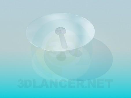 3d модель Круглый стеклянный столик – превью