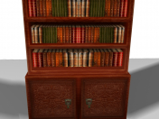Bookcase Lowpoly (extremely)