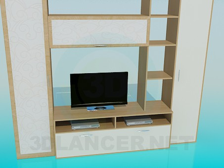 3d modeling Cabinet in the living room model free download