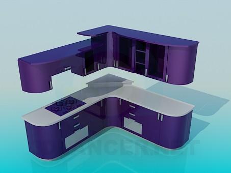 3d моделирование Кухян фиалкового цвета модель скачать бесплатно