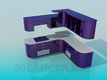 3d model Kuhyan violet color - preview