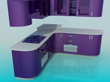 3d модель Кухян фиалкового цвета – превью