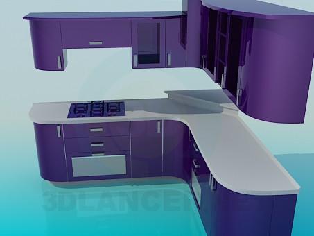 modelo 3D Kuhyan violeta color - escuchar