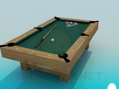 3d model Billiards table - preview