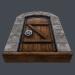 3 डी प्राचीन लकड़ी के दरवाजे (एनिमेटेड) 3 डी मॉडल मॉडल खरीद - रेंडर