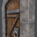 3d Ancient wooden door (animated) 3d model model buy - render