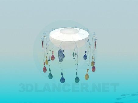 3d model Colorful chandelier with a plafonom - preview