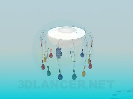 modelo 3D Colorida lámpara con un plafonom - escuchar