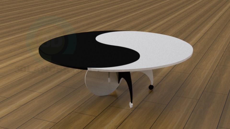 3d моделирование Журнальный столик модель скачать бесплатно
