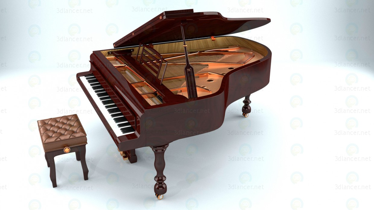 3d Pianoforte model buy - render