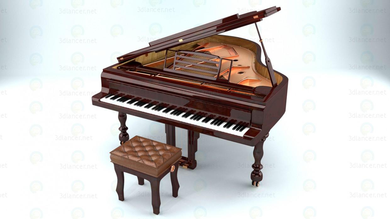 3d Pianoforte model buy - render