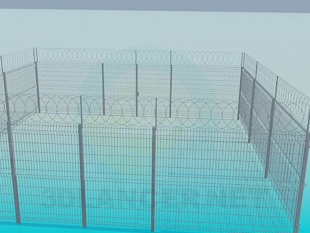 3d model Lattice fence - preview