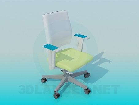 3d modeling Chair on casters model free download