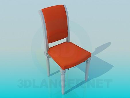 3d модель Стілець з різьбленими ніжками – превью