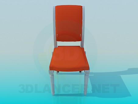 3d model Chair with carved legs - preview
