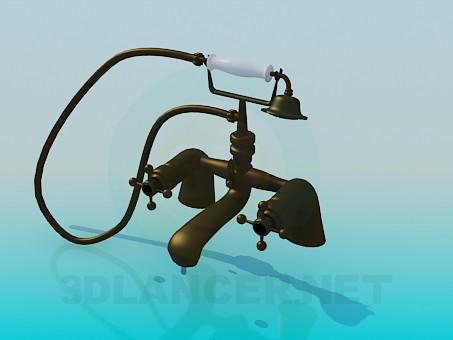 descarga gratuita de 3D modelado modelo Grifería de bañera y ducha en estilo antiguo