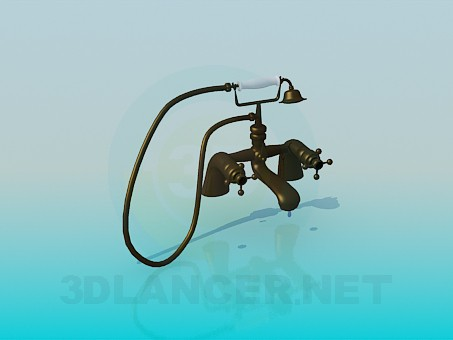 3d model Bath and shower faucet in antique style - preview