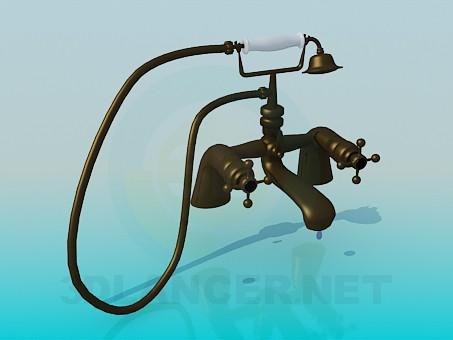 3d модель Кран для ванной и душ в старинном стиле – превью