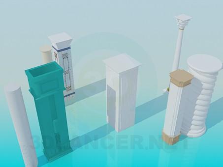 modelo 3D Columnas - escuchar