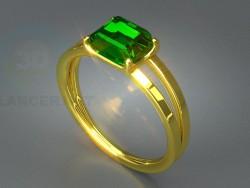 Кольцо с камнем 3