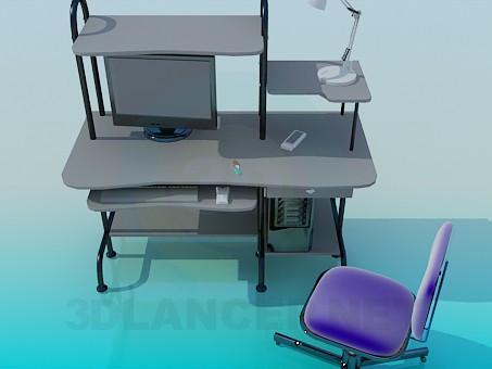 3d model Сomputer escritorio - vista previa