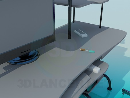 3d модель Компьютерный стол – превью