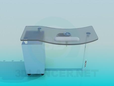 3d моделирование Стол стелянный модель скачать бесплатно
