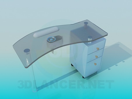 3d model Table trailing - preview