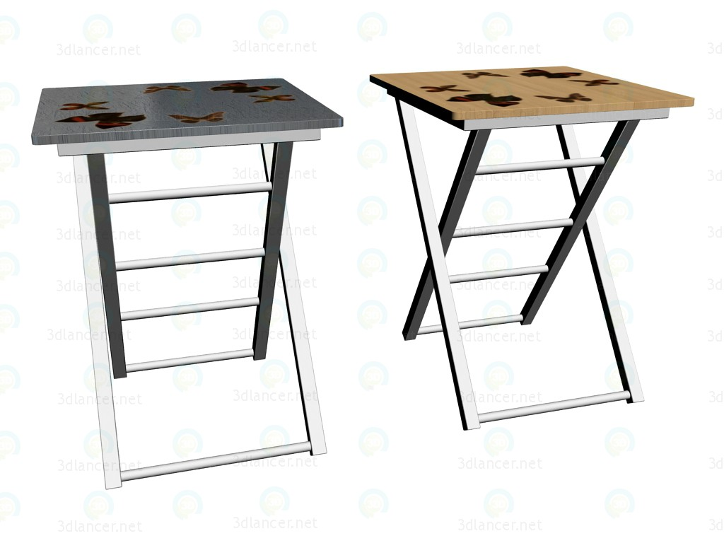 3d model Serving tables Butterflies - preview