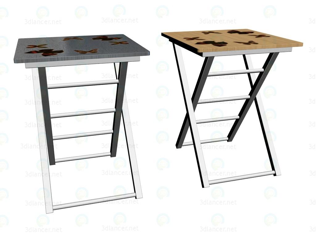 3d моделирование Столы сервировочные Butterflies модель скачать бесплатно