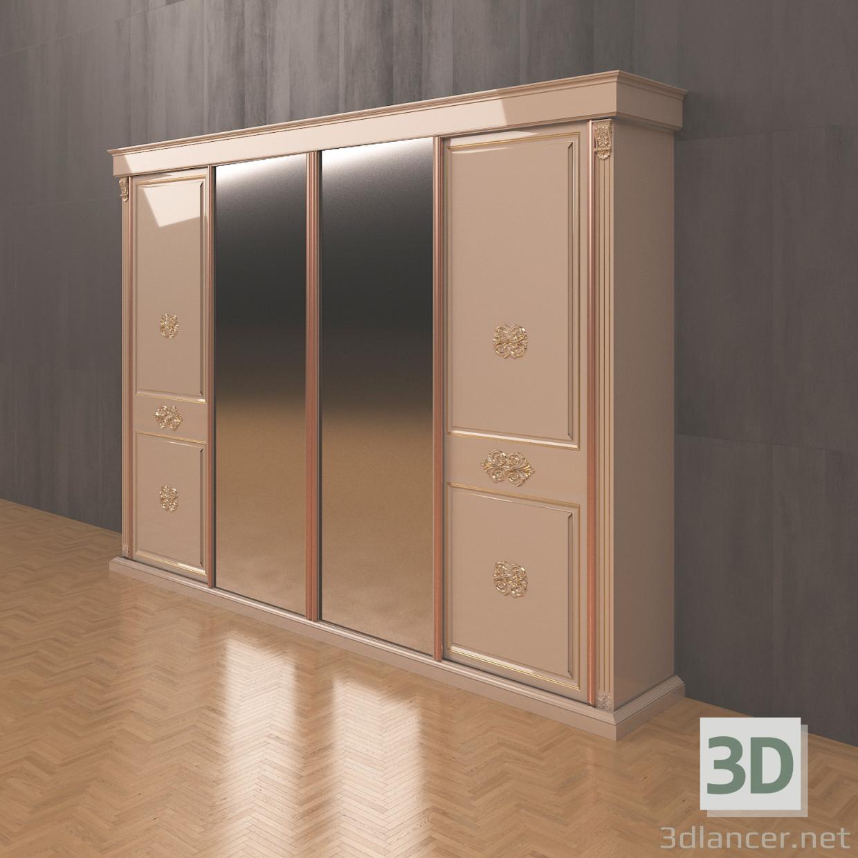 descarga gratuita de 3D modelado modelo armarios de puertas correderas