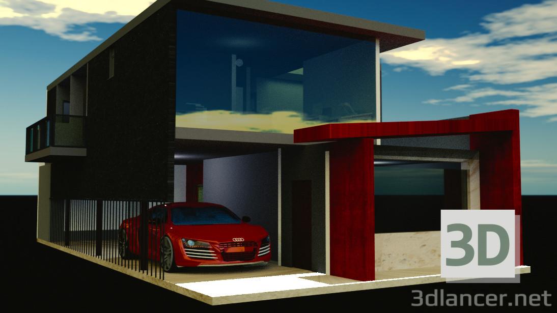 Modelo 3d Casa - preview