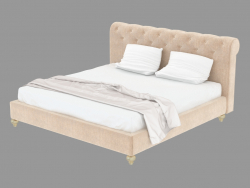 Double bed in leather trim STYLE
