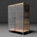 3d Glass cabinet model buy - render