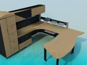 Стол, шкаф полка и тумба для рабочей области