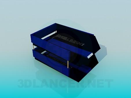 3d model Bandejas de sobremesa para valores - vista previa