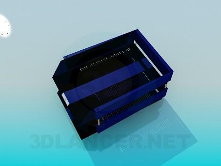 3d модель Настільні контейнери для паперів – превью