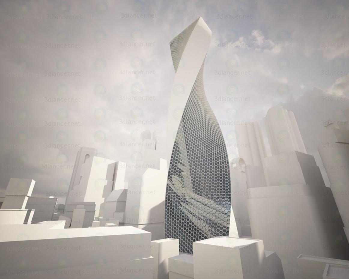 modelo 3D Rascacielos - escuchar