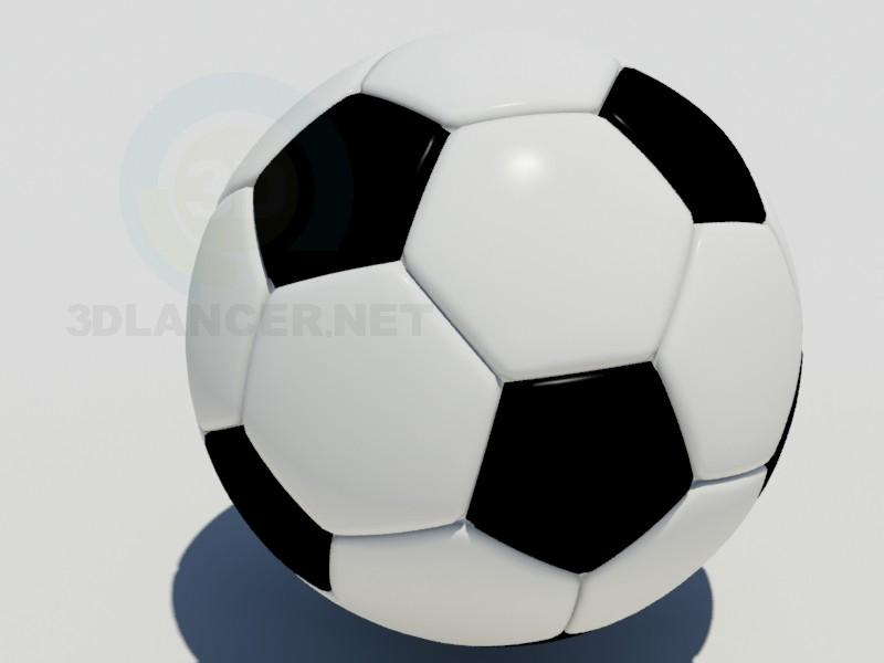 3d модель Футбольний м'яч – превью