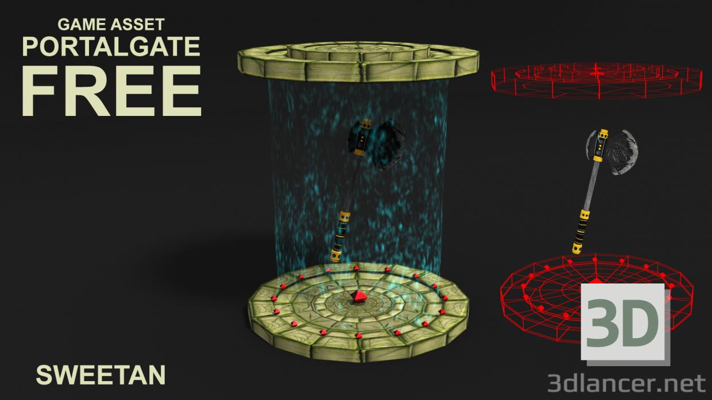 3D modeli Oyun Portal Kapısı düşük poli - önizleme
